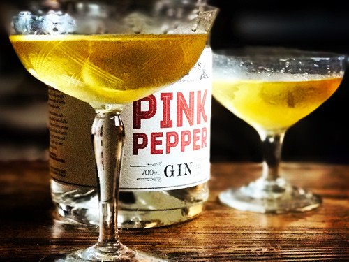 pink pepper gin audemus spirits